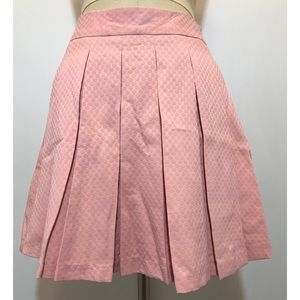 New! ELLE Pink Textured Flare Skirt Sz. 4